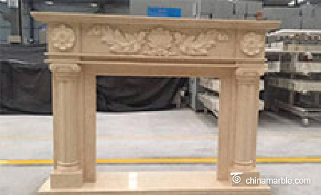 Marble and stone fireplace mantels