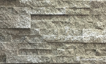 White Grey Granite Culture Stone, Ledge Panel