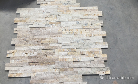 Beige Travertine Ledge Wall Stone