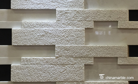 White Marble Culture Stone, Ledge Panel
