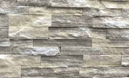 Cloudy Grey Marble Culture Stone, Ledge Panel