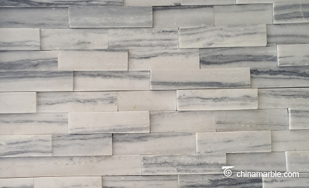 Exterior Wall Cloudy White Quartzite Cladding Panel/Wall Stone/Wall Decorative Stone
