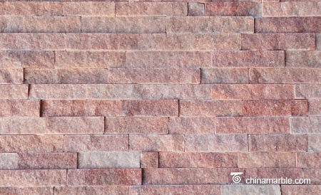 Peach Red Quartzite Ledge Stone Panel