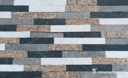 Multicolor Quartzite Cultured Stone, Ledge Panel