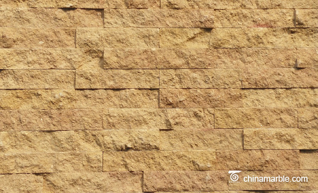 Gold Sandstone Culture Stone, Ledge Panel