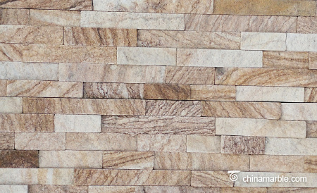 Yellow Sandstone Stacked Wall Stone