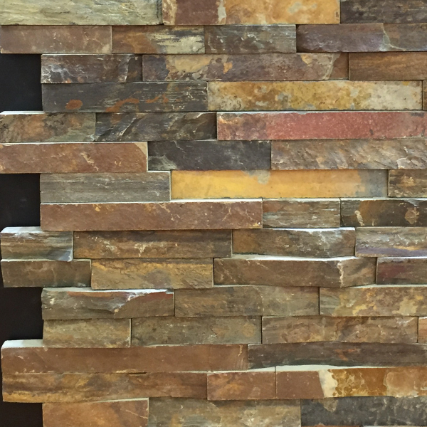 Rust Slate Rock Face Ledge Stone Panel China Marble