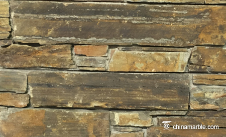 Rust Slate Rock Face Stacked Stone Panel Stone Veneer