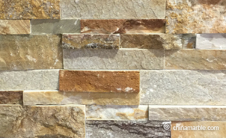 P014 Slate Rock Face Stacked Wall Stone Cladding