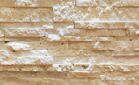 Cream Travertine Culture Stone, Ledge Panel