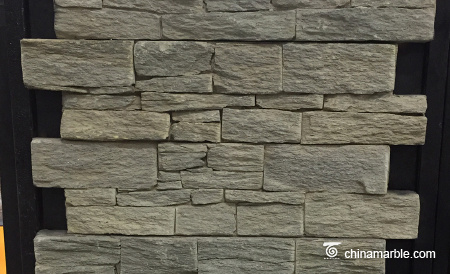 Black Slate Meshed Back Wallstone Ledge Stone