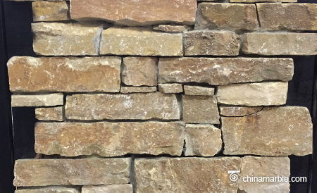 Gold Slate Meshed Back Ledge Stone Panel Wallstone