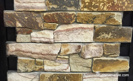 Yellow Sandstone Meshed Back Cultured Wallstone