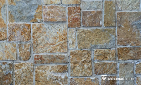 Sunset Gold Quartzite Random Loose Stacked Stone