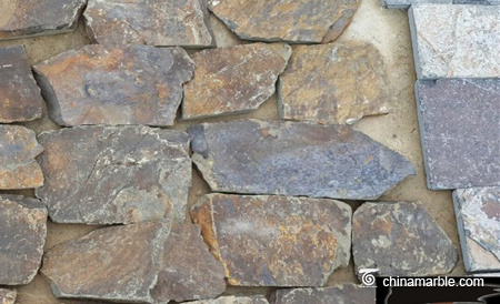 Rust Slate Brown Random Loose Stacked Stone