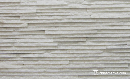 White Quartzite Pencil Stone Veneer