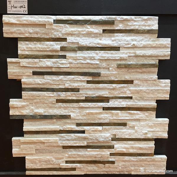 White Marble Waterfall Wall Stone Cladding