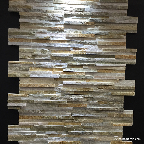 Grey Green Waterfall Wall Stone Cladding