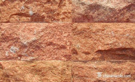 Red Quartzite Mushroom Stone Tiles