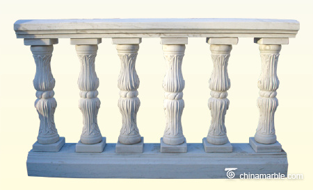 Carved marble baluster