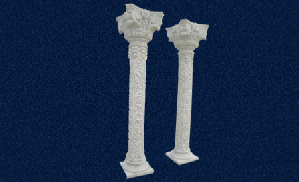 Carved Crown And Body Column China Marble