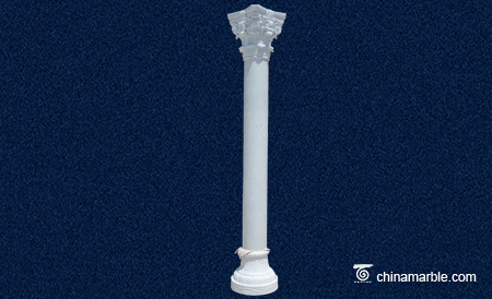 The Corinthian White Marble column