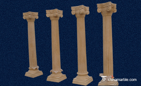 The Roman cream Marble column