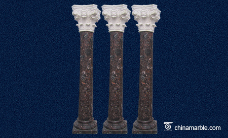 The mixed marble column