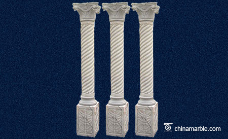 The twisted marble column