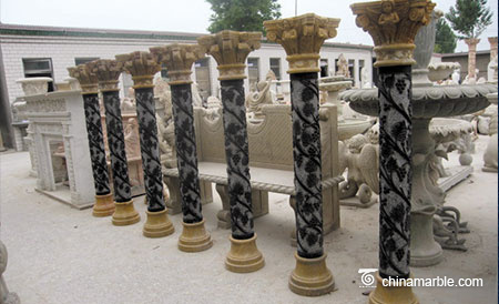 The Multicolor marble column