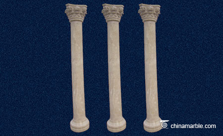 The Corinthian Travertine column