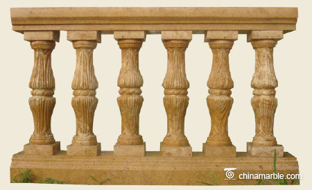 Yellow limestone balustrade
