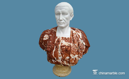 Multicolor Marble Bust