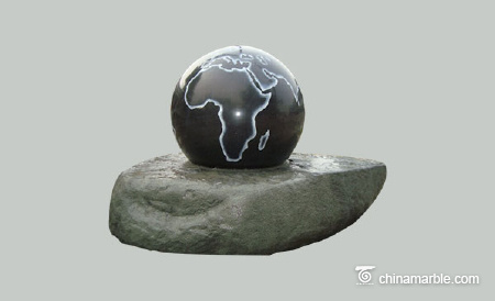 Sphere Ball on Rock