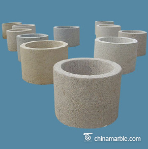 Granite round trough