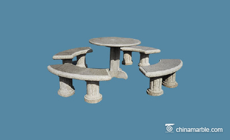 Table with bench set
