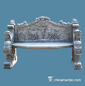 Greek style marble bench