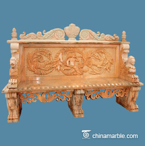 Luxury beauty marble bench
