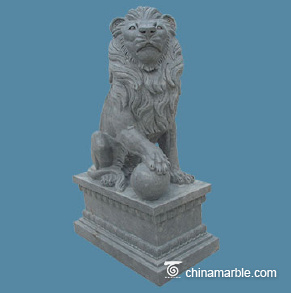 Blue limestone lion