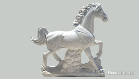 White Marble Horse