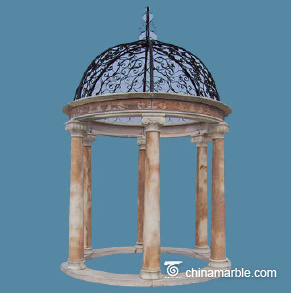Cloud pink marble gazebo