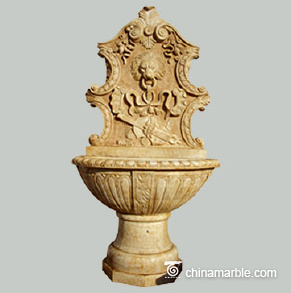Antique marble wall fountain
