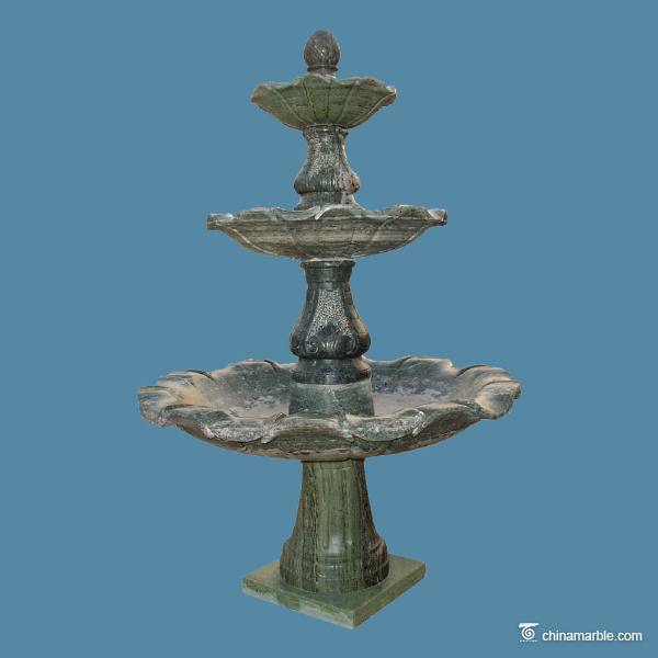 The green marble fountain