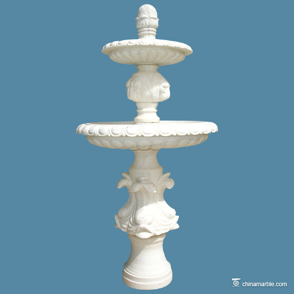 Two layers marble fountain