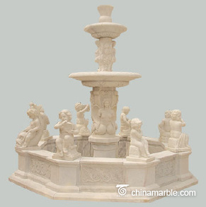 The 8 cherubs marble fountain