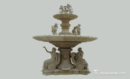The Statues sandstone fountain