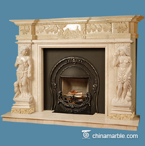 Cream Marble Mantel