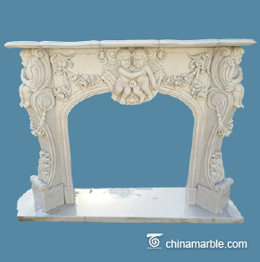 Children Carved Mantel