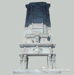 Majestic Tall marble fireplace