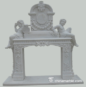 The Cherubs marble fireplace